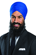Headshot of Jagmeet Singh.