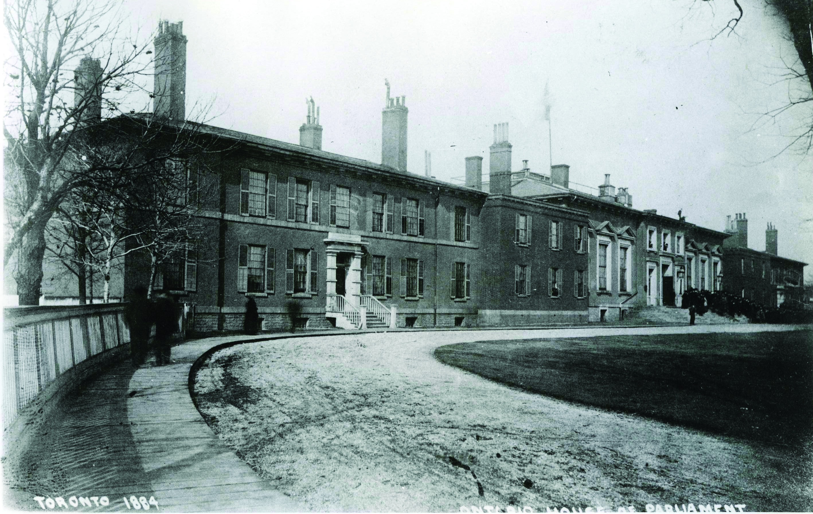 Picture of the Front Street Legislative Building, in use from 1832 to 1892.