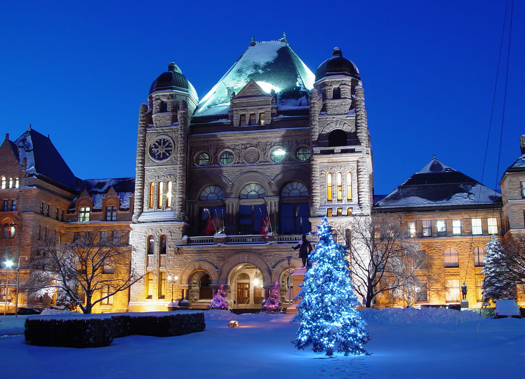 View of the Legislative Building in the winter