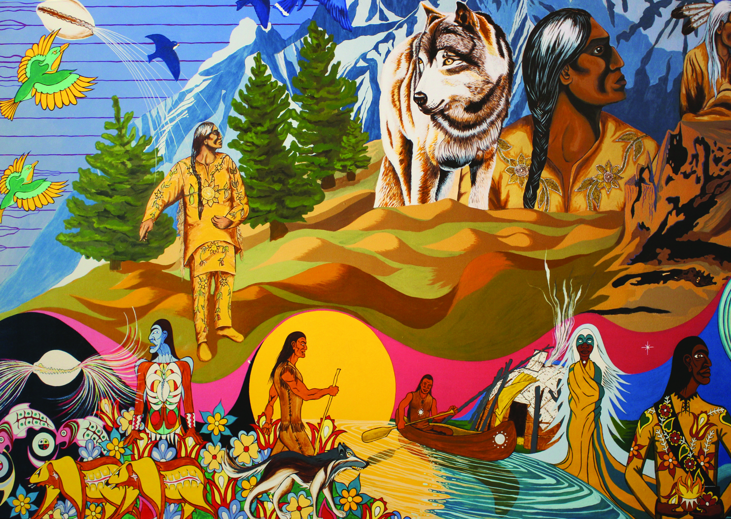 Image showing the 3rd of 3 panels depicting the history of the Mississaugas of the Credit First Nation