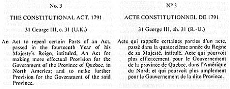The Constitutional Act, 1791