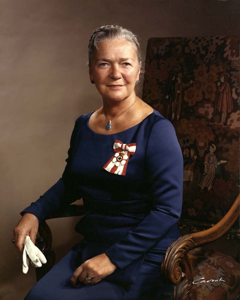 Picture of the Honourable Pauline McGibbon, Lieutenant Governor from 1974 to 1980