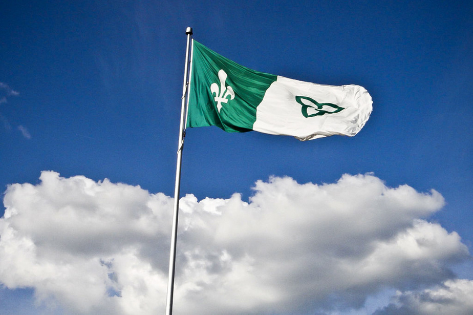 Picture of the Franco-Ontarian flag