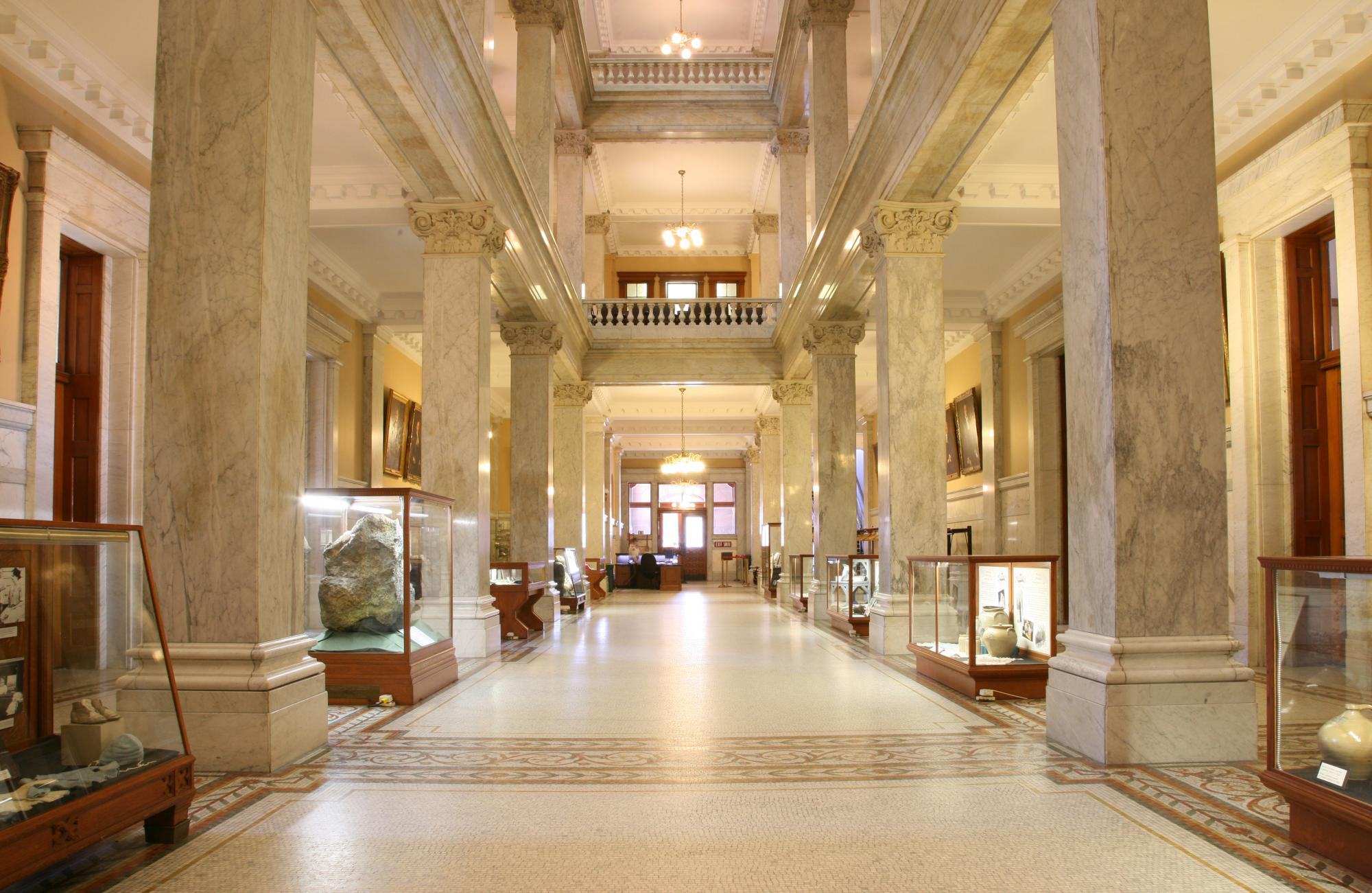 West wing of the Legislative Building with Community Exhibits.