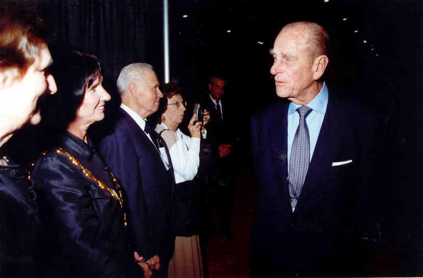 Picture of the Duke of Edinburgh at Showcase Ontario in 2002