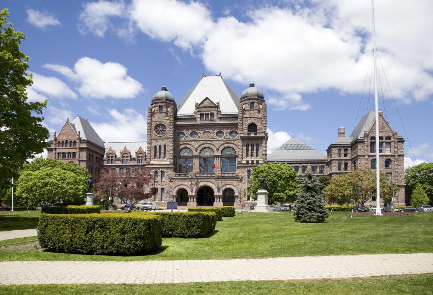 Picture of Ontario's Legislative Building in Queen's Park, Toronto