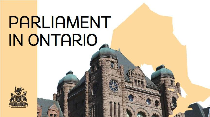 Image of Parliament in Ontario presentation