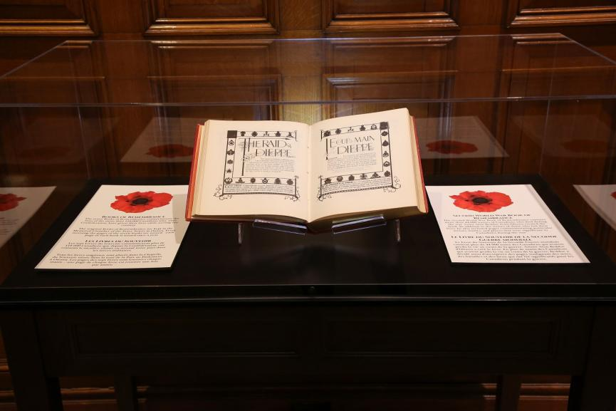 A picture of the Second World War Book of Remembrance