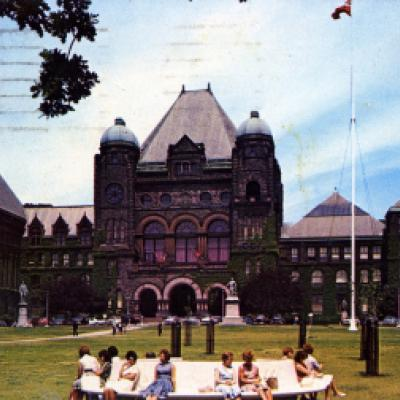Legislative Building and grounds, viewed looking north, 1960s