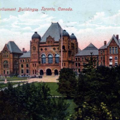 Legislative Building, viewed looking north, prior to the fire of 1909.