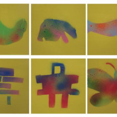 Image showing a collection of Inuit prints by students at the Ottawa Inuit Children's Centre