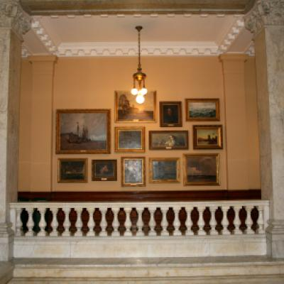 The west wing of the Legislative Building, with works from the Government of Ontario Art Collection.