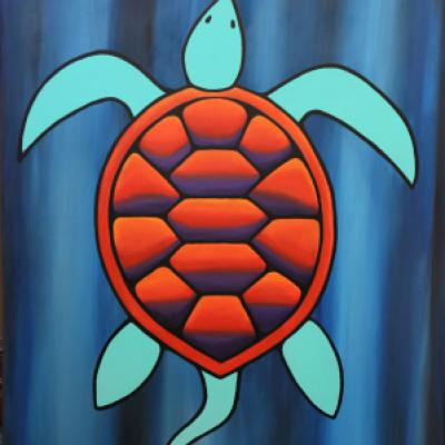 Image showing painting Turtle by Tim Doctor