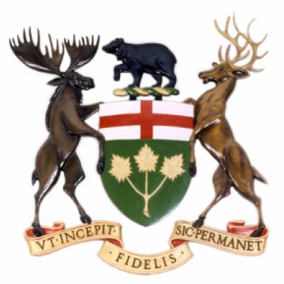 Ontario's coat of arms graphic