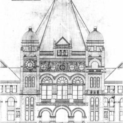 Architecture drawing of the Legislative Building