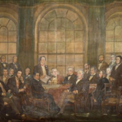 Fathers of Confederation painting