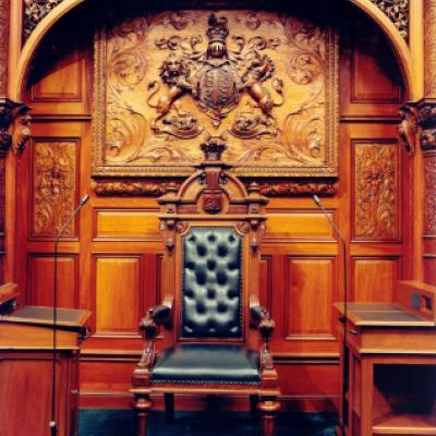 Picture of the Speaker's chair