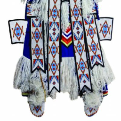 Picture of a grass dance regalia from the Whitefish River First Nation