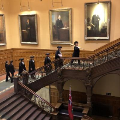 Picture of the Speaker's Procession on the grand staircase
