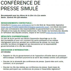 Conférence de presse simulé image