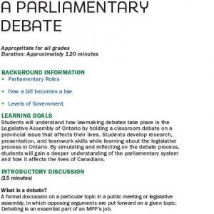 Parliamentary Debate image