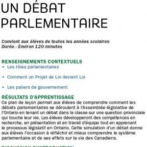 Débat parlementaire image